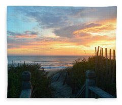 September 28, 2018 Sunrise Nh  Fleece Blanket
