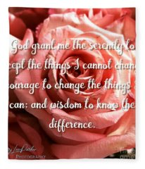 Serenity Prayer II Fleece Blanket