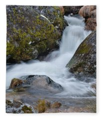 Serra Da Estrela Waterfalls. Portugal Fleece Blanket