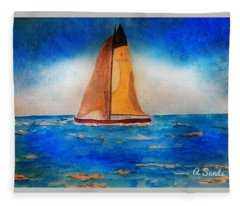 Setting Sail At Sea Fleece Blanket