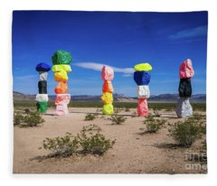 Seven Magic Mountains Las Vegas Nv 1 Fleece Blanket