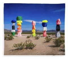 Seven Magic Mountains Las Vegas Nv 1 Fleece Blanket