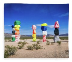 Seven Magic Mountains Las Vegas Nv 2 Fleece Blanket