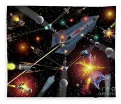 Sferogyls Space Battle Group Fleece Blanket