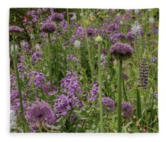 Shades Of Purple Fleece Blanket