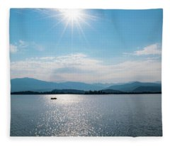 Shadow Mountain Lake Fleece Blanket