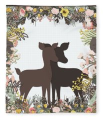 Shadowbox Deer Fleece Blanket