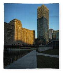 Shadows Of The City Fleece Blanket