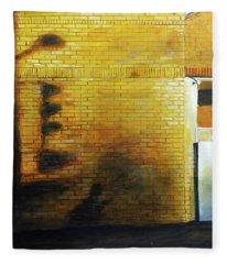 Shadows On The Wall Fleece Blanket