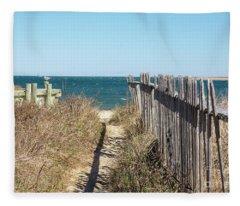 Shadowy Fence Fleece Blanket