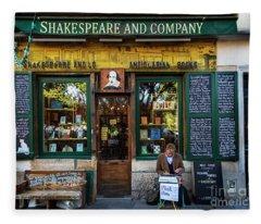 Shakespeare And Company Bookstore Fleece Blanket
