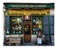 Shakespeare And Company Bookstore Fleece Blanket