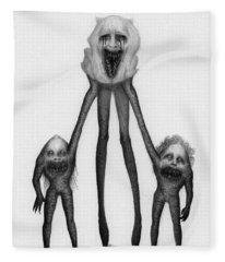 Shambling Flesh Seeker Nurse - Artwork Fleece Blanket