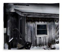 Shanty At Fishtown Michigan Fleece Blanket