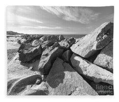Shapes By The Sea Fleece Blanket