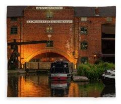Shardlow Wharf Fleece Blanket