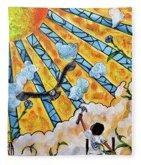 Shattered Skies Fleece Blanket