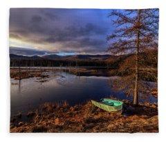 Shaw Pond Sunrise - Landscape Fleece Blanket