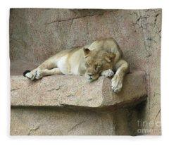 She Lion Fleece Blanket