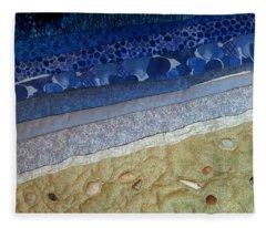 She Sews Seashells On The Seashore Fleece Blanket