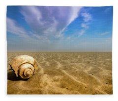 Shell At Hunting Island Fleece Blanket