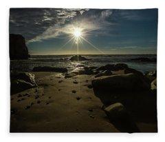 Shell Beach Sunburst Fleece Blanket