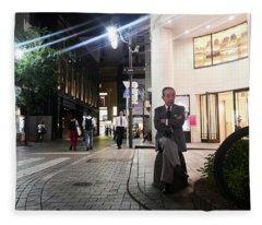 Shinjuku Man Fleece Blanket
