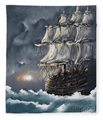 Ship Voyage Fleece Blanket