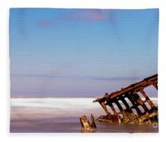 Ship Wreck Fleece Blanket