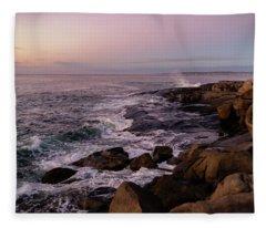 Shoals Of Cape Neddick Fleece Blanket