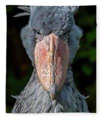 Shoe-billed Stork Fleece Blanket