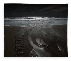 Shore Of The Cosmic Ocean Fleece Blanket
