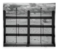 Fleece Blanket featuring the photograph Showers by Steve Stanger