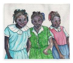 Shy Girls From South Alabama Fleece Blanket