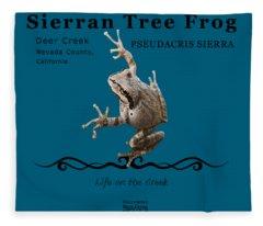 Sierran Tree Frog Pseudacris Sierra Fleece Blanket