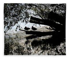 Silhouette Ducks #h9 Fleece Blanket