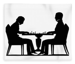 Silhouette Of Chess Players, Around 1845 Fleece Blanket