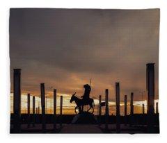 Silhouettes Fleece Blanket