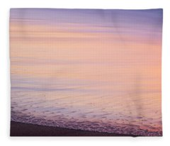 Fleece Blanket featuring the photograph Silky Sea by Whitney Goodey