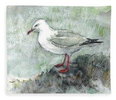 Silver Gull Fleece Blanket