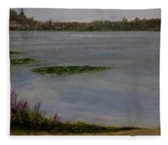 Silver Lake During The Wildfires Fleece Blanket
