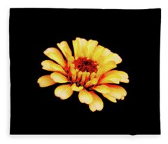 Simple Zinnia Fleece Blanket