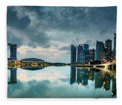 Singapore Lighst Fleece Blanket