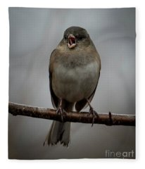 Singing Junco 2 Fleece Blanket