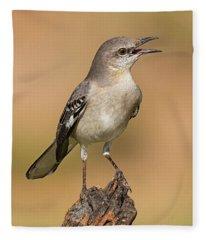 Singing Mockingbird Fleece Blanket