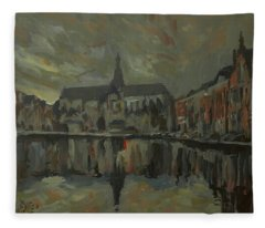 Sint Bavo Church Haarlem Fleece Blanket