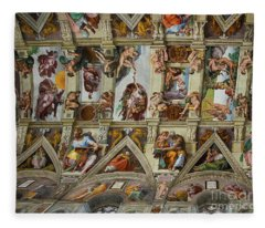 Sistine Chapel Vatican Rome Amazing Ceiling Art Fleece Blanket