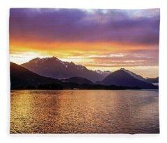 Sitka Sunrise Fleece Blanket