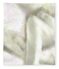 Sitting Nude Fleece Blanket