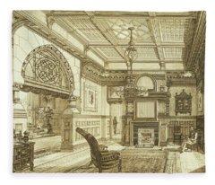 Sitting Room Of Bardwold, Merion Pa Fleece Blanket